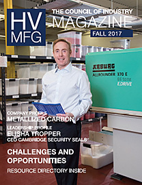 HV Mfg magazine Fall 2017 issue - cover